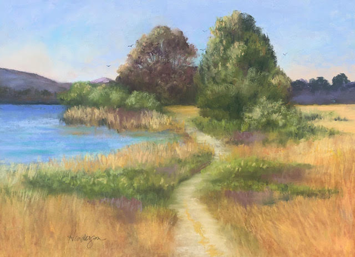 Laguna Lake Path by Carolyn Henderson, 3cps Online Show