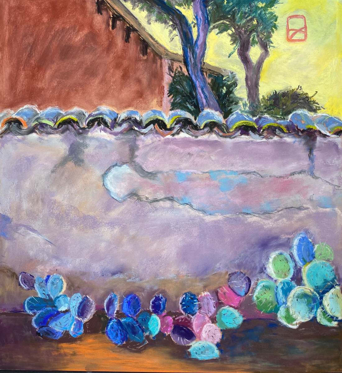 Dunker Susan, Cemetery Wall Mission San Miguel, 19x17, $800